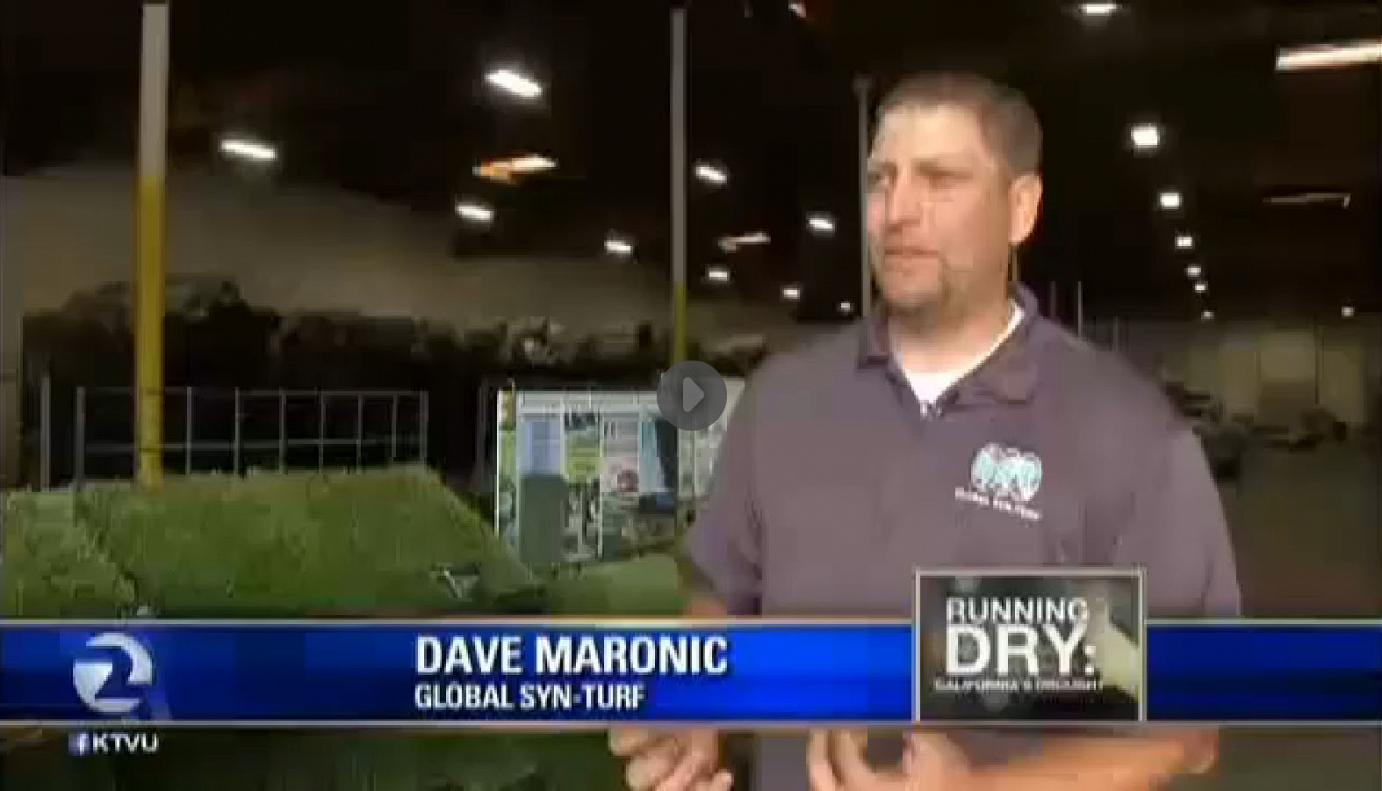 fake-grass California Drought Salvation - Global Syn-Turf at San Francisco's Fox News