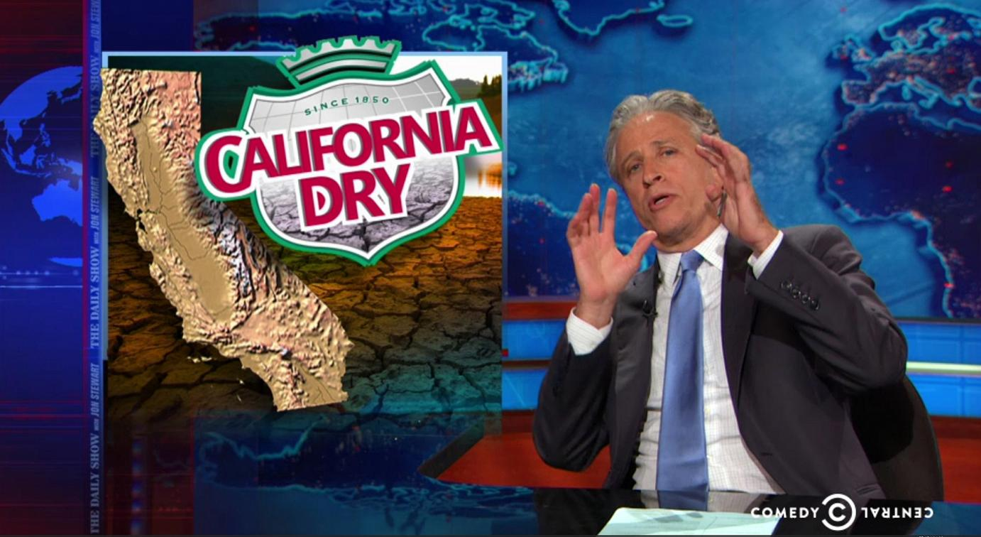 fake-grass Jon Stewart References California as a Jurassic World But This Time... BOOM! Everything Went Horribly Wrong.