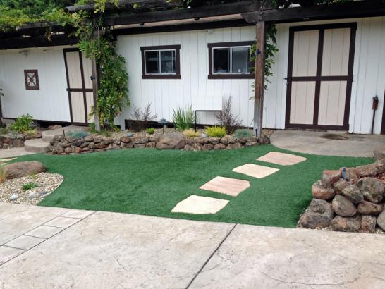 Artificial Grass Photos: Fake Grass Fort Hood Texas Lawn  Pavers Front Yard