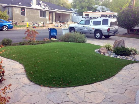 Artificial Grass Photos: Fake Grass Hill Country Village Texas Lawn  Front Yard