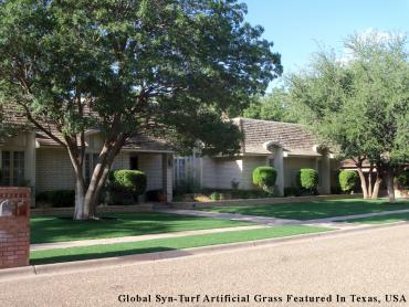 Artificial Grass Photos: Synthetic Grass Sunset Valley Texas Lawn  Front Yard