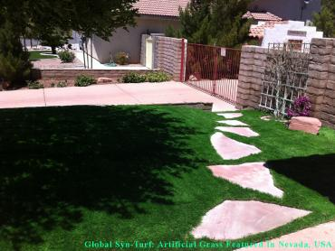Artificial Grass Photos: Synthetic Pet Turf San Leanna Texas Installation  Pavers